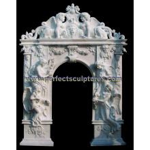 Puerta de mármol de piedra del arco del granito para la puerta del rodeo de la puerta (DR045)