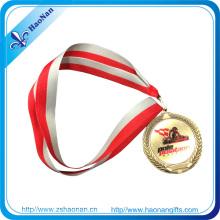 Custom Design Fabric Military Medal Antique Gold Ribbon