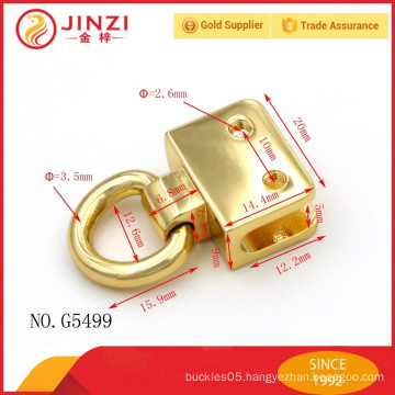 All size customized fashionable decoration bags lock zinc alloy metal bag fitting from Jinzi