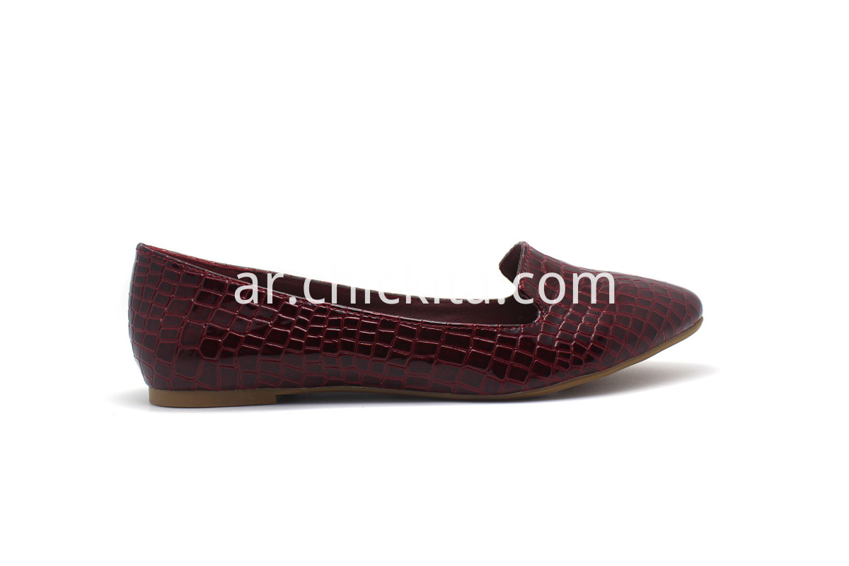 Classic crocodile print Loafer Pump Shoes