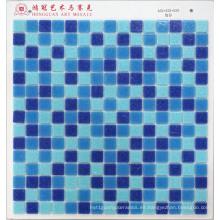 Mosaico De Cristal Con Vidrio Azul