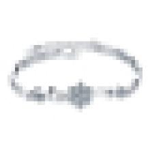 Women′s 925 Sterling Silver Crystal Snowflake Bracelet