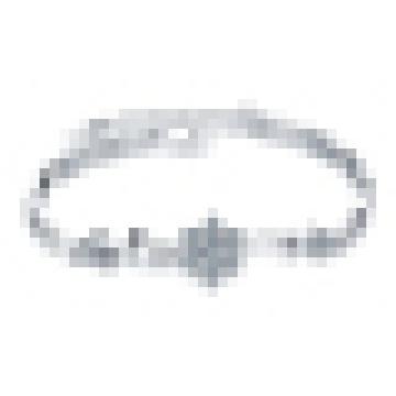 Bracelete de floco de neve de cristal de prata esterlina 925 das mulheres
