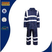 Hoher Sichtbarkeit wasserdichte Regenjacke Overall Workwear / Verkehrspolizei Regen Mantel