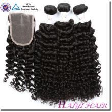 Выдвижение Человеческих Волос Weave Девы Бразильский Волос