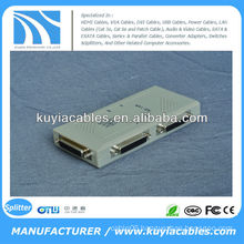 Auto 4 Port 25 Pin DB-25 Parallel Printer Sharing Switch Box