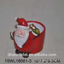 Fashionable design Santa ceramic flower vase