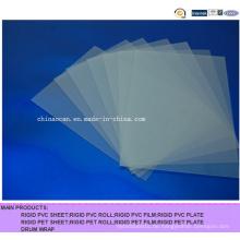 Mattes durchsichtiges PVC-Blatt für Druckmaterial