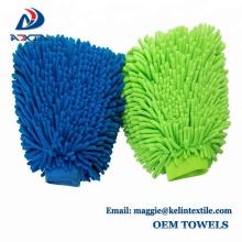 Luva de alta qualidade da lavagem de carros do microfiber, luva frente e verso da lavagem de carros do chenille