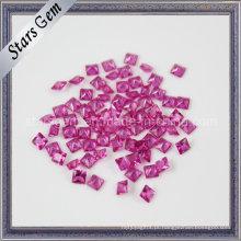 Rubi Quadrado de Coríndon Sintético de Pedra para Jóias