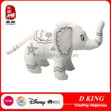 Juguete de peluche de peluche Elefante relleno de peluche se puede pintar
