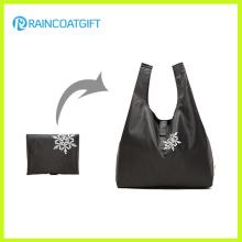 Promotion bon marché épicerie pliable Polyester Shopper Bag