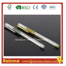 Cheap Gel Ink Pen with Silver and Golden Color