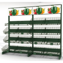 Obst- und Gemüseregal