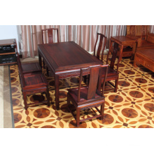 High-End 7sets Siam Rosewood Dinner Table with Ming Style