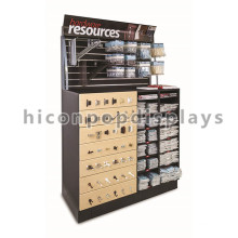 Creative Floor Standing Wood Metal Hand Tool Advertising Display Racks And Stands For Hardware Store