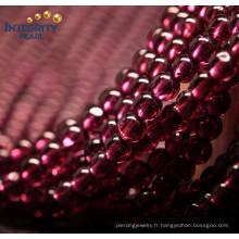 Vente en cours de vente Gemstone Loose Strand 4mm Brésil Natural Garnet Gemstone