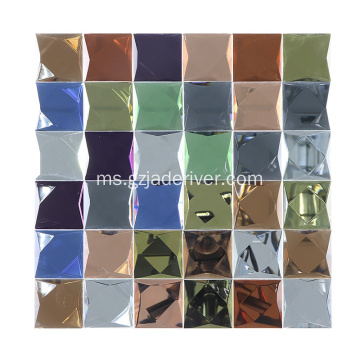 Glass Glass Rainbow Mosaic Tile