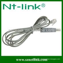 С модульным разъемом 2 полюса 4 полюса испытательного кабеля