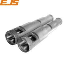 zhoushan 55 /110 bimetallic extruder conical twin screw barrel