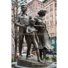Große bronzene Familienskulptur CLBS-L056R