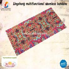 Design your own fabric Cheap wholesale decorative headwear polyester custom bandana