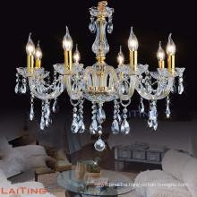 Big gold crystal glass chandelier for hotel 81026