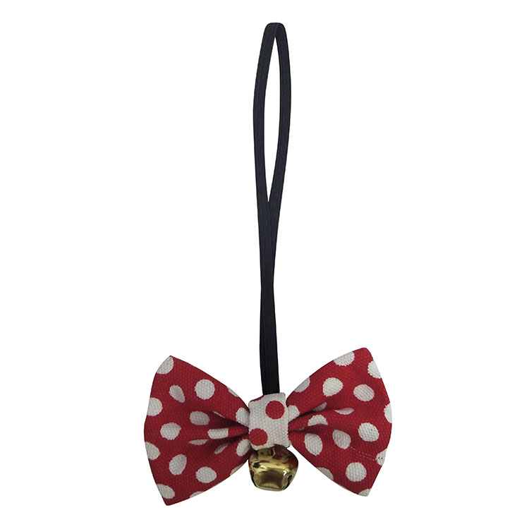 Christmas small dog bow tie plaid red
