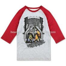 half sleeve t shirts with printing logo