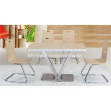 Neueste Design 4 Stühle Kompakter HPL Esstisch (FOH-BC13)