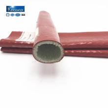 Silicone Coated Glass Fiber Fire Sleeve with High Temperature Resistance