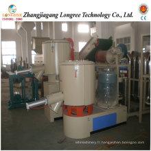 Mélangeur en plastique de poudre de PVC de Profssional, mélangeur à grande vitesse de poudre de PVC, mélangeur en plastique de Turbo, unité de mélangeur de refroidissement