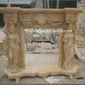 Bege Lady estátua mármore lareira (SY-MF006)
