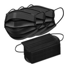 Face Mask Black Disposable Breathable Dust Filter Masks with Elastic Ear Loop for Men & Women