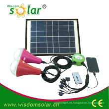 Fácil uso en el hogar CE led kit de iluminación solar; sistema luz solar con 2 lamps(JR-SL988B)