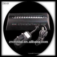 Base de luz LED plástica para cristal