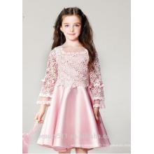Robe de petite fille robe de princesse à encolure sans manches filles en robe de nuit chaude ED790