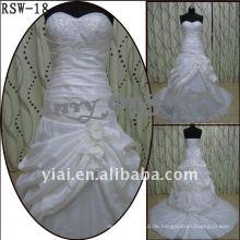 RSW-18 2011 heiße Verkaufs-neue Entwurfs-Dame-moderne elegante kundengebundene schöne Rüsche wulstiges Brautkleid