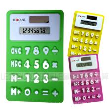 Calculateur pliable à silicium double puissance de 11.5cm 8 chiffres avec Megnet (LC518A)