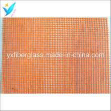 5mm * 5mm 80G / M2 orange Fiberglas Netz