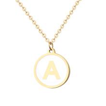Women Men Traveler Chain Necklace letter Disc Coin Necklaces