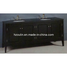 Meuble-lavabo en bois double évier (BA-1117)