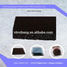 Filtro de carbón activado carbón de la esponja del filtro del carbón de leña del tratamiento de aguas