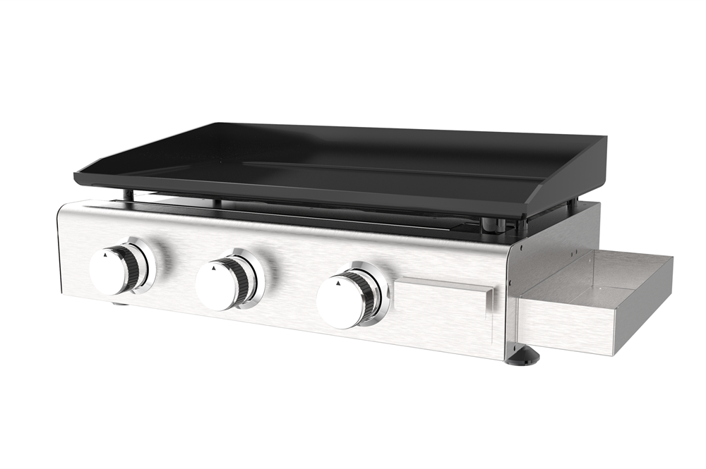Gas Griddle with Condiment Box