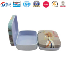 Mini Sized Metal Tin Container for Mint Chewing Gum