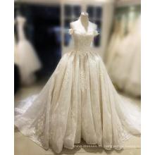 2017 vestido de noiva perlas sweetheart corsé de cristal puffy vestido de bola vestidos de boda baratos