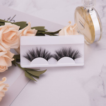 Hand Made Eyelashes Clear Band Faux Mink