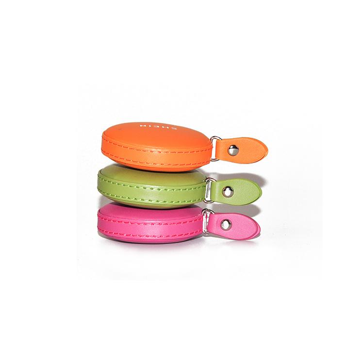Wholesale 1.5m - 2m Custom Brand Logo PU Leather Tape Measure Sales Promotion Giveaways Measuring Tape