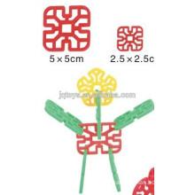 JQ 1014 bloques geométricos de los copos de nieve geométricos para los cabritos