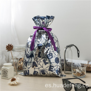 Kid Idea Silver - Bolso con cordón de Halloween Resuable